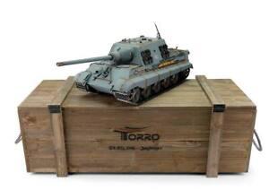 Enthousiaste Torro 1/16 Rc Allemand Ww Ii Jagdtiger Tank Rtr Metal Pro Edition Wooden Crate-afficher Le Titre D'origine Laissons Nos Produits Aller Au Monde