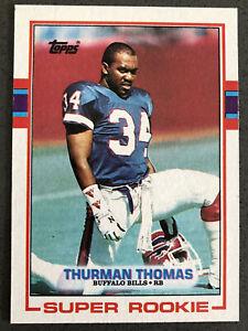 1989-Topps-Football-Thurman-Thomas-Rookie-RC-45-Buffalo-Bills-HOF