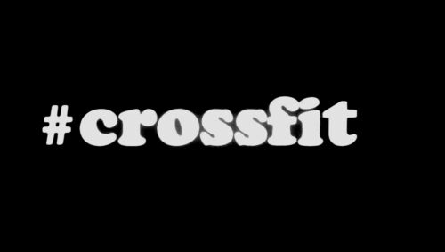 "#crossfit decal//sticker white 8/"" car hashtag gym fitness"