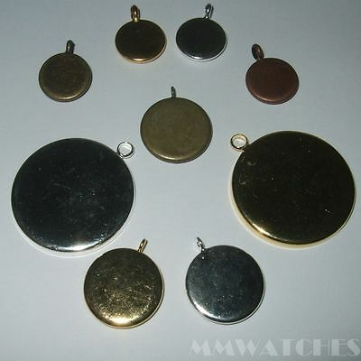 ROUND SILVER BRONZE GOLD 25mm 20mm 14mm 12mm 10mm CABOCHON SETTING TRAY C04
