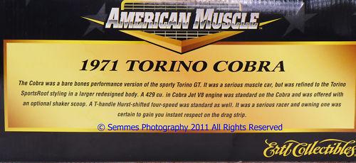 1971 Ford Torino Cobra 429 Cobra Jet  blanc 1 18 Ertl nouveau Only One I have left  livraison rapide