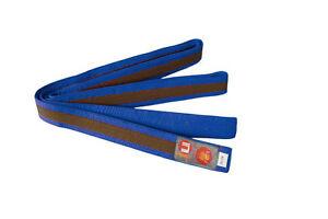 Ju-Sports Budo-Gürtel blau/braun/blau  Karate, Judo, Ju-Jutsu, Taekwondo