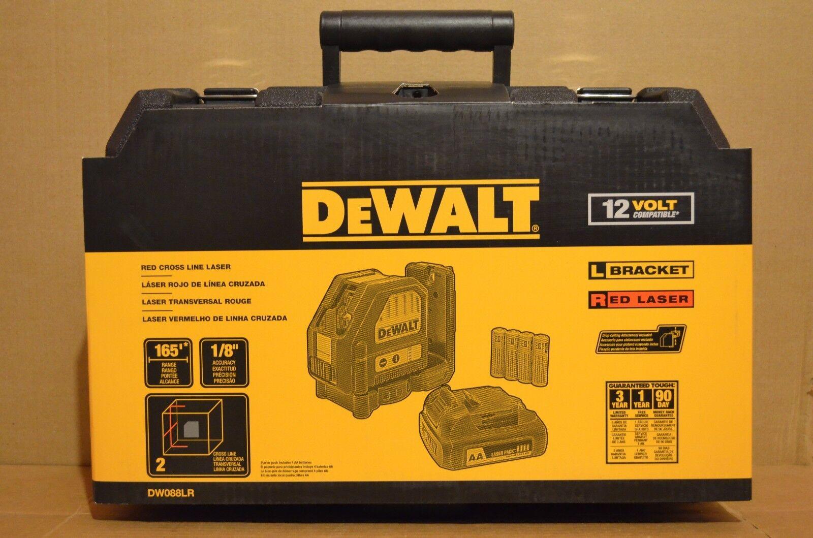 Brand New DeWALT DW088LR 12V MAX Compatible Red Cross Line Laser
