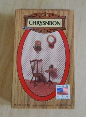 1:12 Scale Chrysnbon Furniture Kit, W/Candlestand Table, Duxbury Chair and more