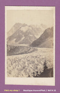 CDV-ALPES-MONTAGNE-CHAMONIX-MONT-BLANC-LA-MER-DE-GLACE-PANORAMA-1870-R32