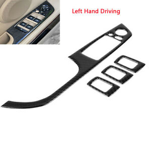 0f980803e92 Left Driving For E90 Carbon Fiber Window Switch Panel Trim Cover ...