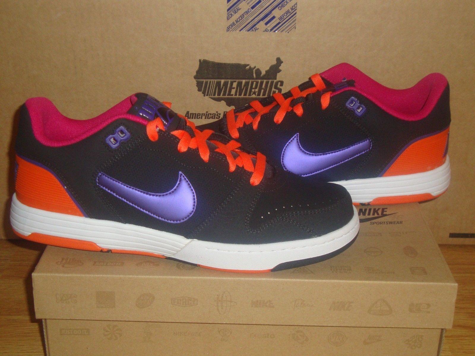 Nike Mach Force Low Black Purple Skate Shoes Dunk SB 525313-050 SWEET SHOE SKUNK