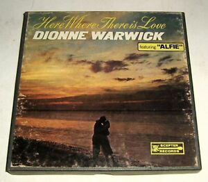 Vintage Dionne Warwick,WHERE THERE IS LOVE,Alfie 4-Track,3 3/4 IPS,Scepter RARE