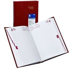 2022 Brownline Cb389red Daily Planner Diary Hard Cover 8 14 X 5 34