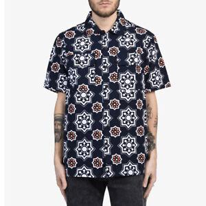 Levi-039-s-Skateboarding-Navy-Blue-Short-Sleeve-Button-Down-Shirt-Size-S-XL