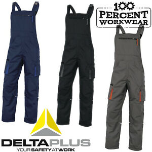 Delta-Plus-Mach2-Polycotton-Mens-Work-Bib-and-Brace-Dungarees-Overalls-Trousers