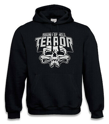 Gabber Hooded Sweatshirt Terrore Sound Of Hell Hoodie Maglione Frenchcore Uptempo- Rinfresco