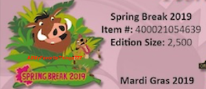 Disney-Pin-of-the-Month-Spring-Break-Lion-King-LE-2500-IN-HAND