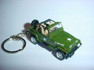 Hot 3d Us Army Jeep Wrangler Custom Keychain Keyring Key 4x4 Offroad Sahara 1995 Ebay