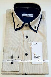 Rayas-Hombre-Manga-Larga-Camisa-de-Vestir-Casual-Oficina-Ropa-471