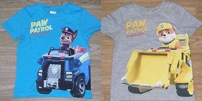 BNWOT  Age 2-9 291 Boys Paw Patrol Short Sleeve T-Shirt Top