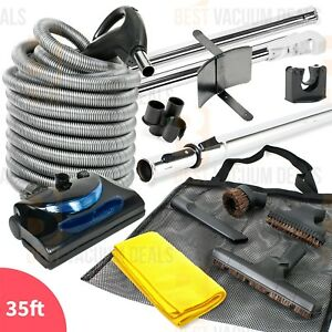 Central Vacuum Kit w//Power Head Hose /& Tools Beam Nutone Kenmore 30/' Electric