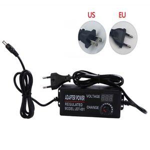 Adjustable AC To DC 3V 9V 12V 24V Universal Power Adapter Supply Display Screen