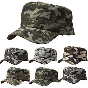 Image is loading Camouflage-Military-Army-Cap-Mens-Womens-Cadet-Hunting- 0f1db9f528