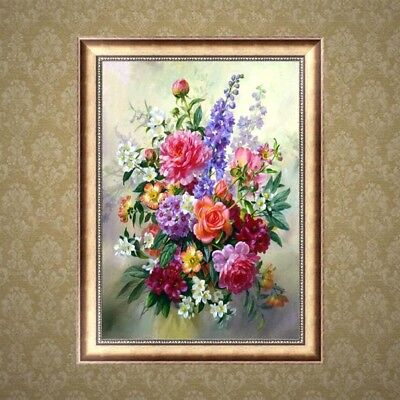 DIY 5D Flower Diamond Embroidery Painting Cross Stitch Art Craft Home Decor Gift
