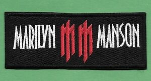 New-Marilyn-Manson-1-1-2-X-4-034-Inch-Iron-on-Patch-Free-Shipping