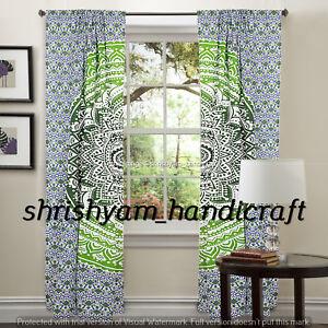 Image Is Loading Wall Curtains Indian Mandala Boho Window Decor Hooks