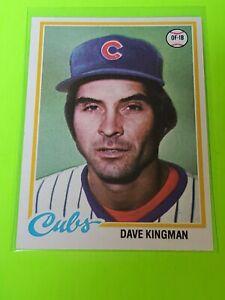 Dave Kingman 1978 Topps #570 Chicago Cubs Vintage Baseball Card
