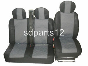 2 X Coche Fundas Asiento Frontal Protector Ford Transit Connect