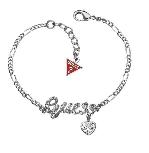 Guess Armband Damen Schmuck Versilbert mit Herz UBB81113 NEU