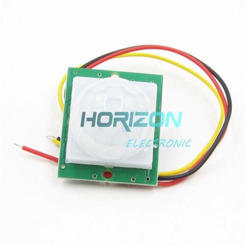 1//2PCS 12V PIR IR Infrared Pyroelectric IR PIR Motion Sensor Detector Module DC