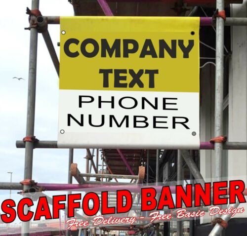 130cm x 130cm PVC PRINTED SCAFFOLDING BANNERS SIGN with pole hems FREE POSTAGE