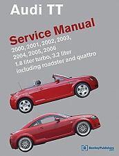 audi tt service manual 2000 2001 2002 2003 2004 2005 2006 1 rh ebay com Audi TT Manual Transmission 2015 Audi TT Manual Transmission