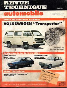 Diplomatique Rta Revue Technique Automobile N° 509 Volkswagen Transporter PréVenir Et GuéRir Les Maladies