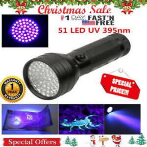 51-UV-LED-Scorpion-Detector-Hunter-Finder-Ultra-Violet-Blacklight-Flashlight-AA
