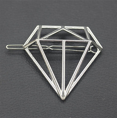 Women Fashion Cute Gold Silver Geometry Moon Hairpin Hair Clip Hair Accessories
