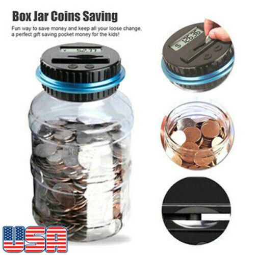 Digital Piggy Bank Automatic Coin Counter Money Banks For Kids LCD Display New