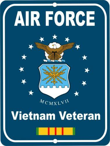 United States AIR FORCE Vietnam Veteran Retro Military Aluminum Sign 9x12