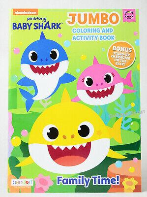 Pinkfong Baby Shark Jumbo Coloring and Activity Book ...