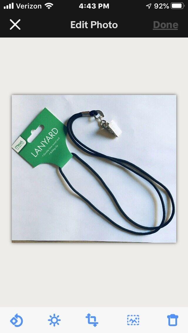 25 Pcs Black Neck Lanyards W/swivel Hook Chain ID Badge School Holder Quick Ship