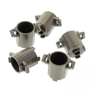5-x-Lego-System-Tonne-II-klein-alt-dunkel-grau-Muell-Eimer-Behaelter-Kiste-Fass-79