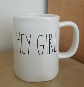 BRANDNEW-RAE-DUNN-by-Magenta-HEY-GIRL-Coffee-Tea-Mug-Winter-Farmhouse-Home-Decor