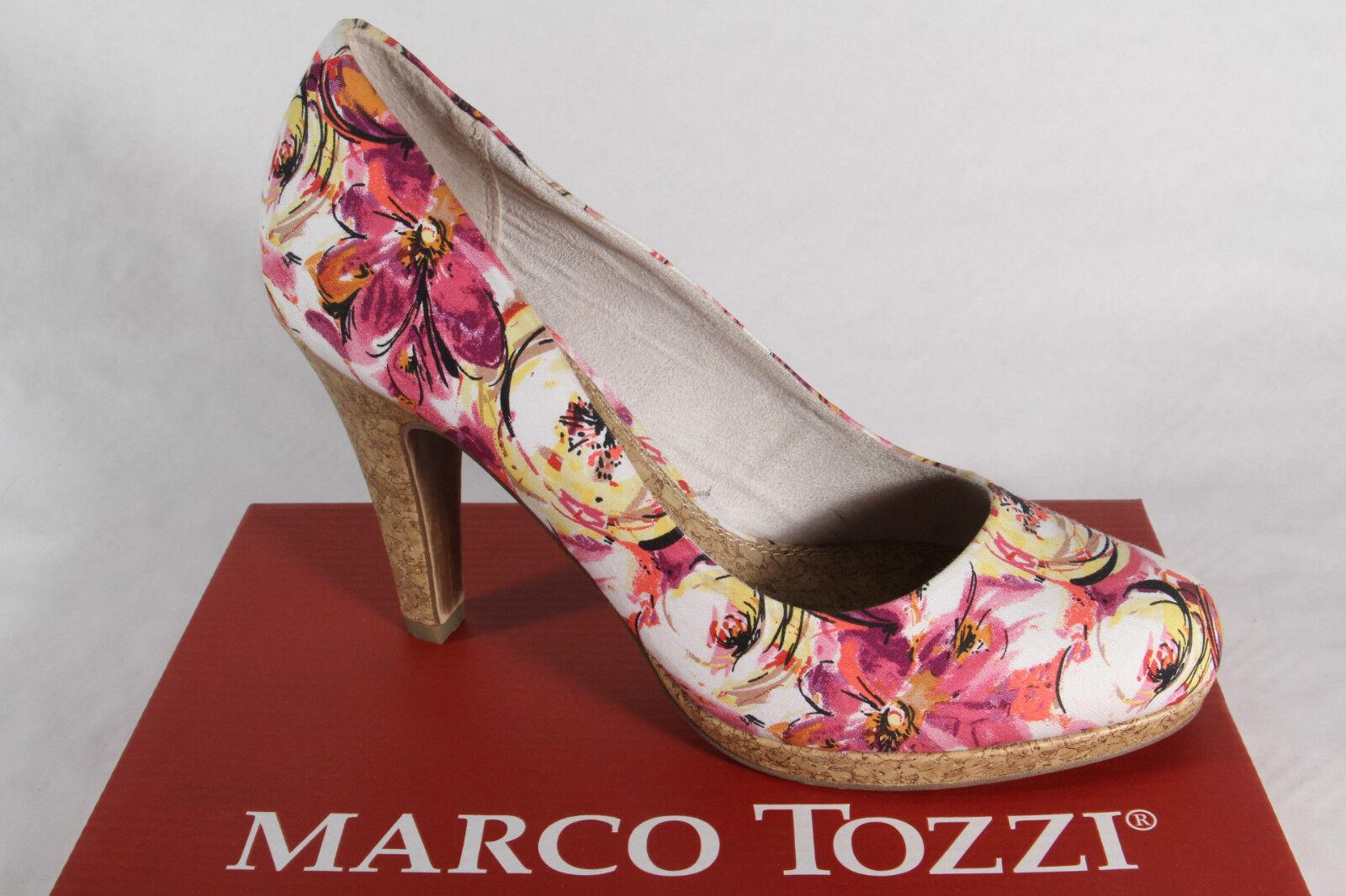 Marco Tozzi Donna Scarpe Scollate Pantofola Fucsia Multi Tessile Nuovo | Varietà Grande  | Uomini/Donna Scarpa
