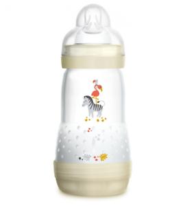 260 ml with Flow MAM Easy Start Self Sterilising Anti-Colic Baby Bottle 2 Pack
