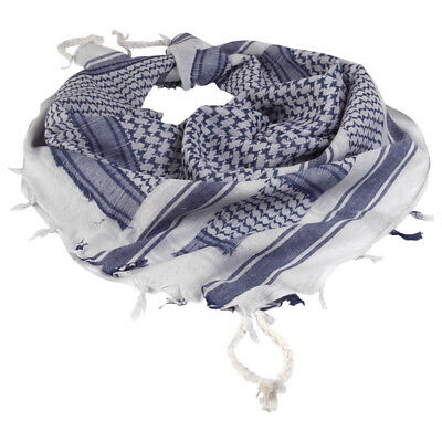 TACTICAL SHEMAGH MILITARY STYLE SHERMAG HEAD SCARF PATROL KEFFIYEH WHITE /& BLUE