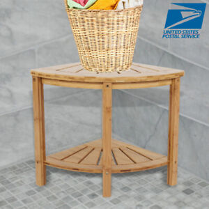 Astounding Details About Wooden Shower Stool Wood Bathroom Corner Bench Seat Bamboo Bath Spa Sauna Chair Download Free Architecture Designs Grimeyleaguecom