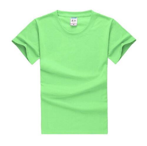 New Cotton blank round neck short sleeve T-shirt custom casual men/'s shirts