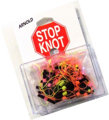 K/&E Arnold Bobber Stops Stop Knot 36 Pack Orange Green /& Pink NEW