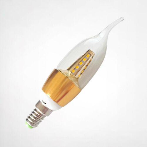 1//6//10x E14 Screw LED Candle Bulbs 6W 220V Cool//Warm White Chandelier Light Lamp