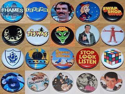 Button Badge 25mm 1 inch RETRO KIDS 80s//90s TV /& CARTOONS VARIOUS DESIGNS