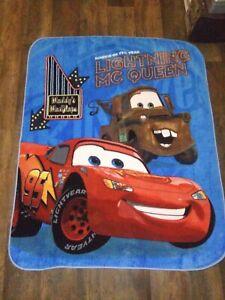 Disney-Pixar-Cars-Fleece-Throw-Blanket-48-x-60-Lighting-MCQueen-Vibrant-Color